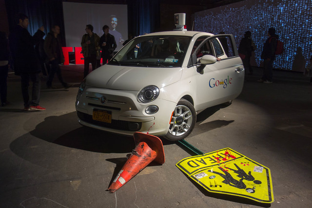Fake Google Driverless Car at F.A.T. Gold
