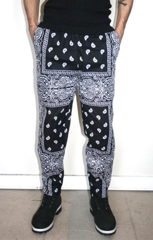 Print Inspiration Mood Board - Roses & Bandanas - Bandana Pritn Trousers