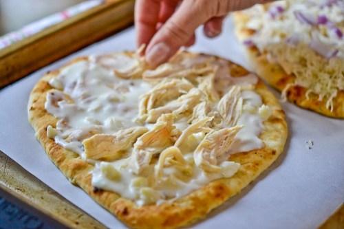Roasted Garlic, Chicken & Herb Flatbread Pizza-7