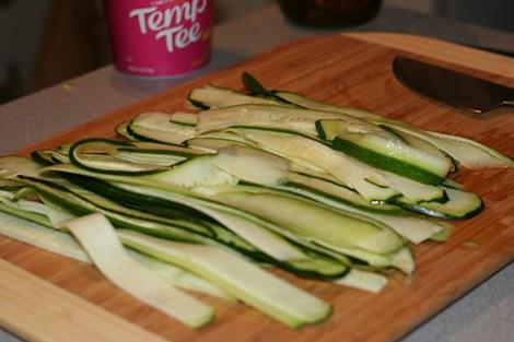 Zucchini-Strips