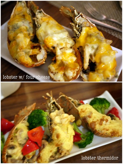 lobster with four cheese, lobster thermidor