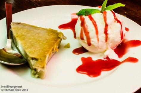 Atom Thai Taro custard w/vanilla ice cream