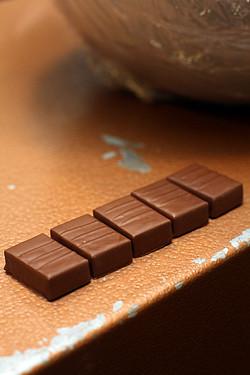 caramel mousse-filled chocolates