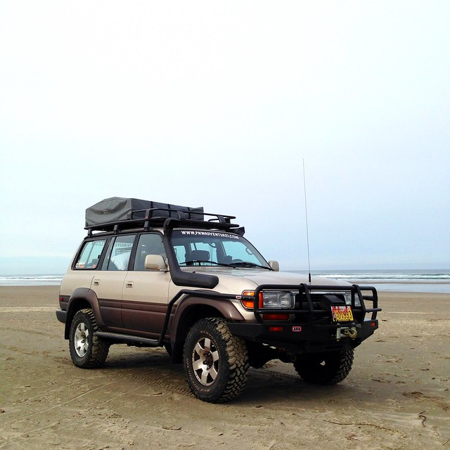 Toyota Land Cruiser on the Beach, Oregon Coast