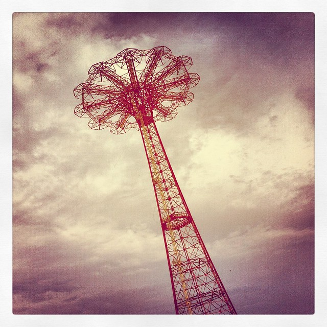 Parachute jump at Coney Island
