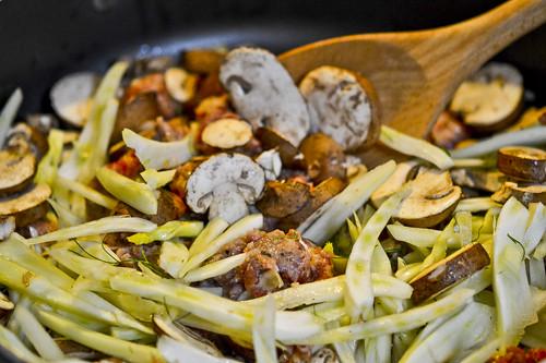 Tortellini with Italian Sausage, Fennel, and Mushroom 13