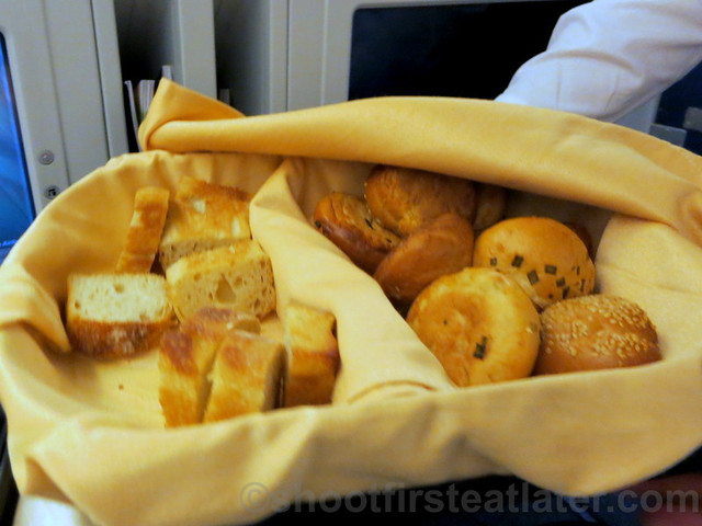 Philippine Airlines Business Class meal Mnl-Hkg-Mnl - bread basket
