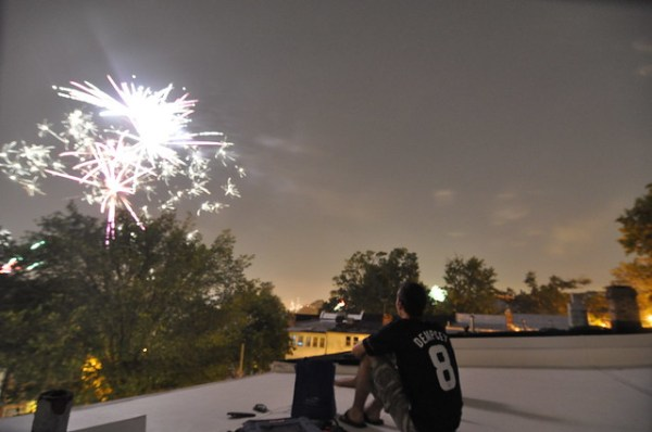 Rooftop fireworks 2