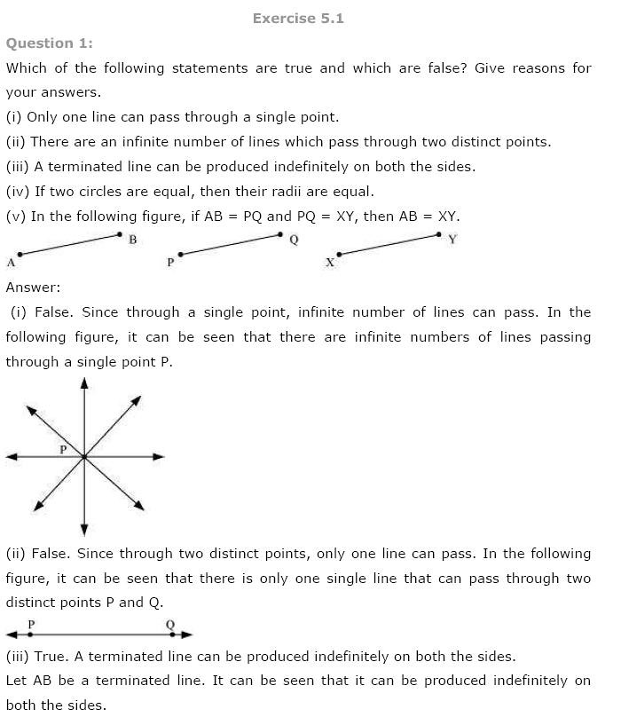NCERT Solutions for Class 9th Maths: Chapter 5 Introduction to Euclids Geometry Image by AglaSem