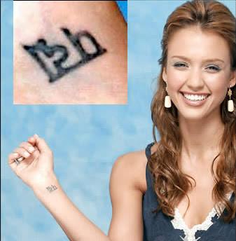 jessica alba 's tattoos