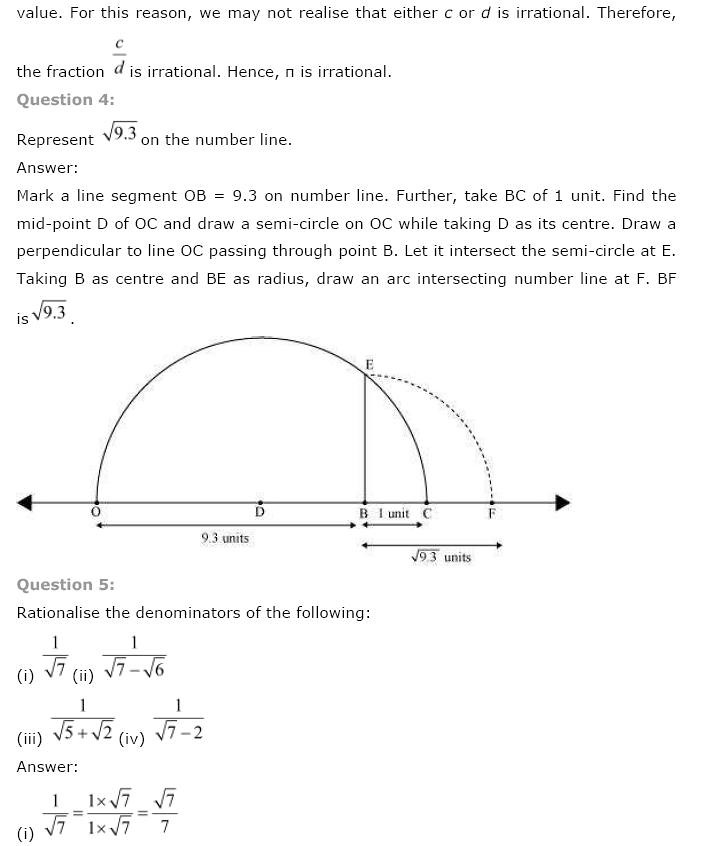 NCERT Solutions for Class 9th Maths: Chapter 1 Number Systems Image by AglaSem