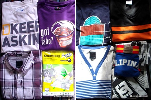 4-Day worth of Tops + Avon Mens Club Shirt (Top Right)