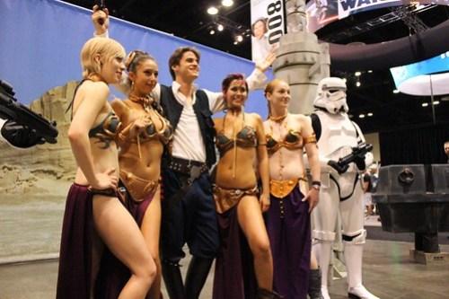 Han Solo and Slave Leias - Star Wars Celebration VI