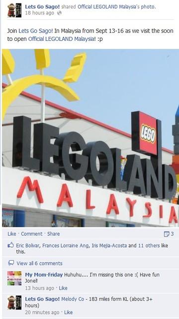 Legoland Malaysia Facebook Share