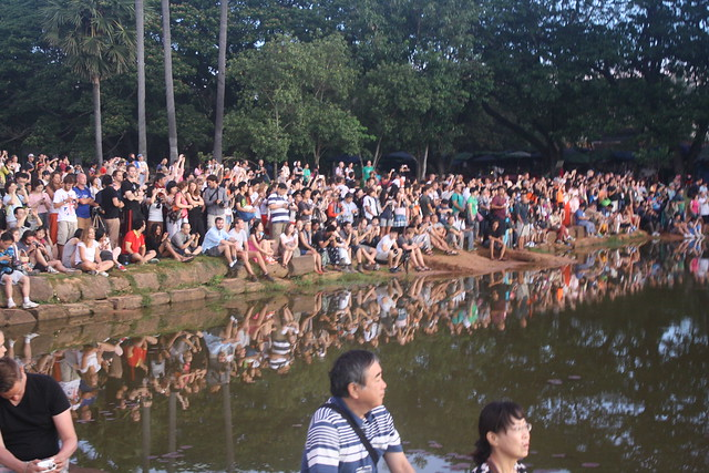 Crowd for Angkor Wat Sunrise
