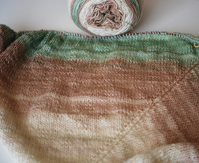 Handspun Lace Shawl in progress