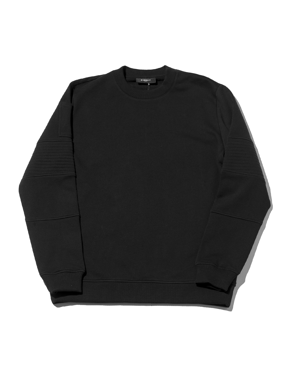 GIVENCHY CUBAN SWEATER WITH RIBBED POCKET, (BLACK) RSVP