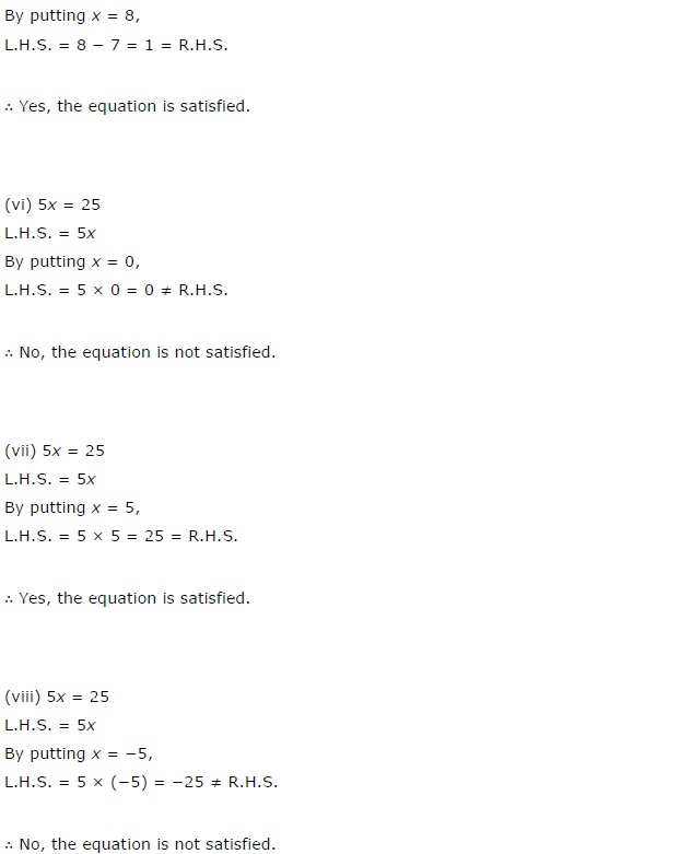 NCERT Solutions for Class 7th Maths Chapter 4   Simple Equations