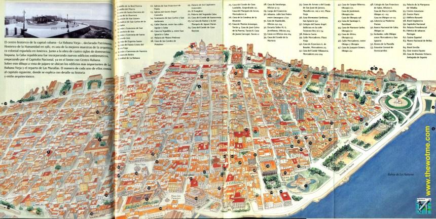 Mapa de La Habana, Cuba