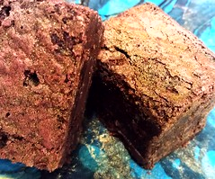 <p>Because brownies should be beautiful. Guatemala chocolate w caramelized peppers.</p>