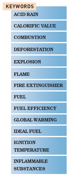 NCERT Class VIII Science Chapter 6 Combustion and Flame