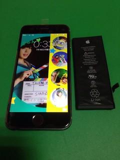 135_iPhone6のフロントパネル液晶割れ&バッテリー交換