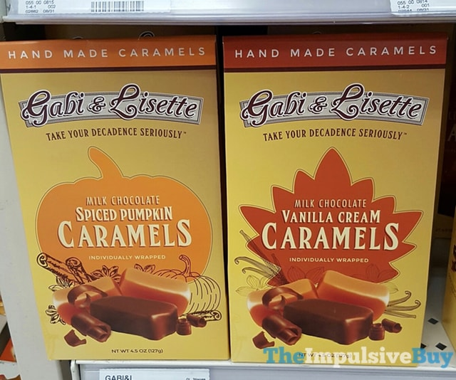 Gabi & Lisette Milk Chocolate Spiced Pumpkin and Vanilla Cream Caramels