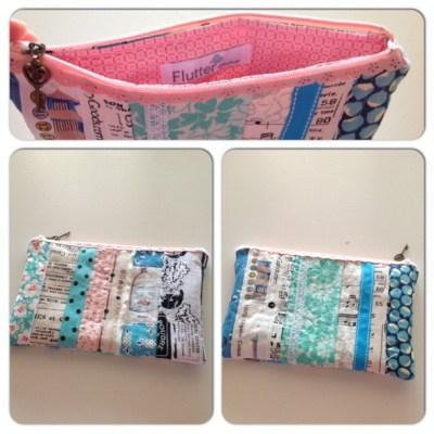 Scrappy pouch. Just because. These are so fun to make!! #instacollage