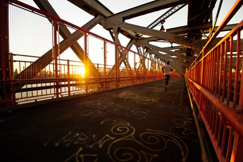 Williamsburg Bridge Sunset - New York City