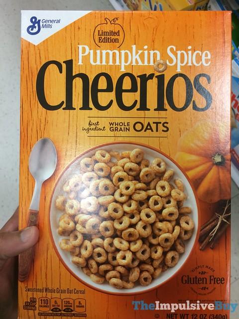 Limited Edition Pumpkin Spice Cheerios Cereal