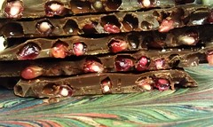 <p>This week only... Fresh pomegranate pips in plummy 67% Tango house-blend dark chocolate.</p>