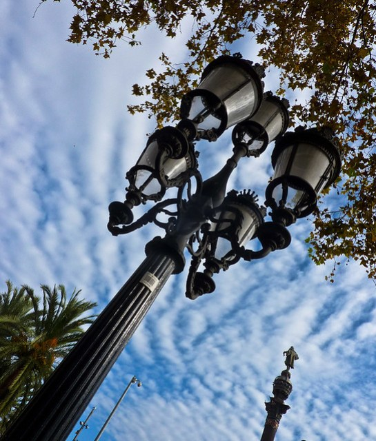 Street Lamps - Barcelona por Photogal 2009