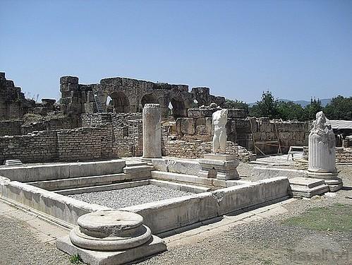 Termas construidas durante el reinado del emperador Adriano en el siglo II.