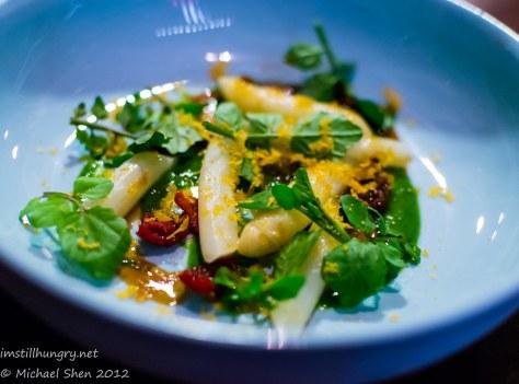 Momofuku Seiobo Asparagus & Quangdong salad