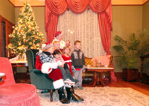most of the kids with Santa