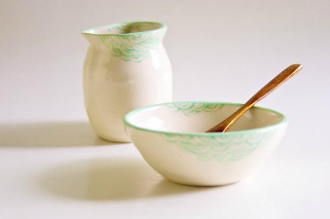 rosslab creamer & bowl