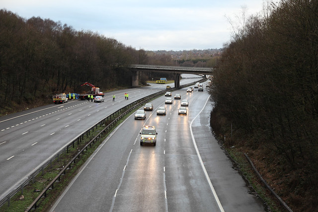 M6 Accident Christmas Day 2012
