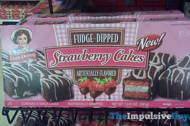 Little Debbie Fudge-Dipped Strawberry Cakes