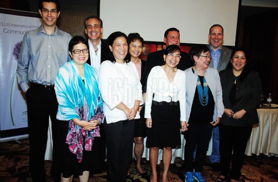 TELUS International Philippines Community Board executives and representatives of the three charities.