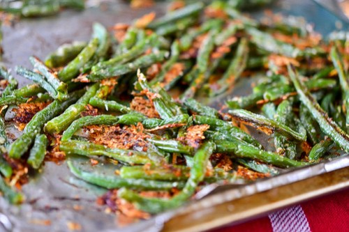 Baked Parmesan Green Bean Fries-4