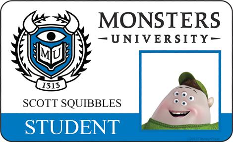 Monster University - Scott Squibbles ID