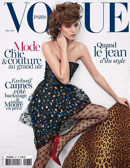 Freja Beha Erichsen on cover Vogue Paris May 2013