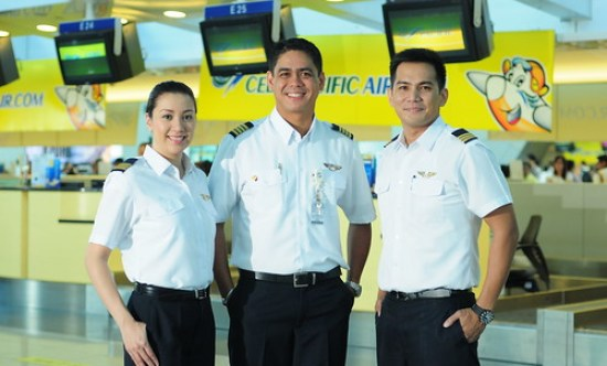 Cebu Pacific flight crew.