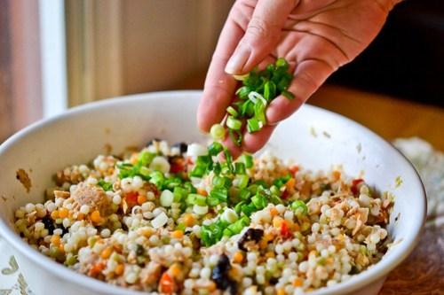 Israeli Couscous Tuna Salad-11