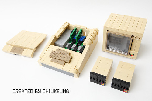 LEGO Apple II Plus interior