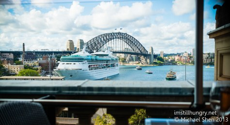 Cafe Sydney view