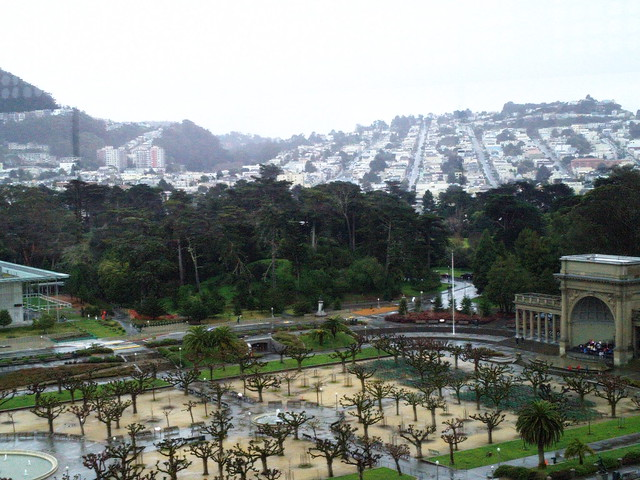 Golden Gate Park from Tower in de Young Museum