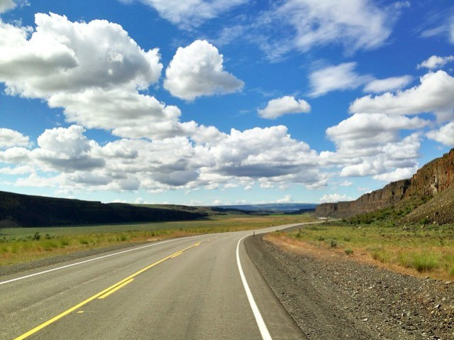 Lonely Road - Moses Coulee Rd, WA (May 2013)