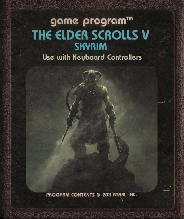 Skyrim Atari Cartridge