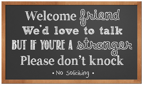 photo about No Soliciting Printable named No Soliciting\u201d Doorway Signal Printable